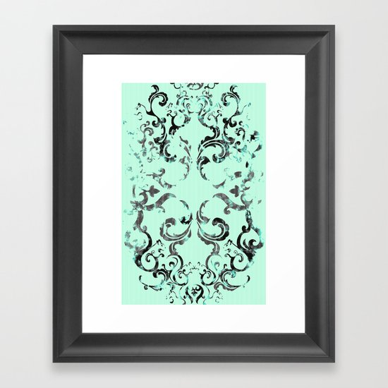 Squirrel Swirl Framed Art Print