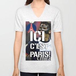 Ici c'est Paris! colors urban fashion culture Jacob's 1968 Paris Agency for Thiago Si psg supporters Unisex V-Neck