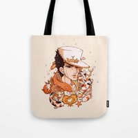 jjba Tote Bags featuring fishy by vvisti