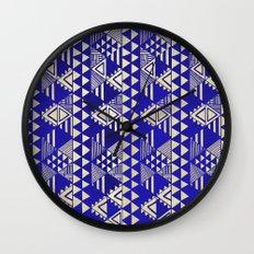 Ethnic Indigo Wall Clock