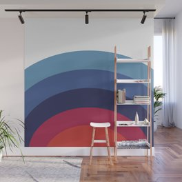 Retro Sunset Wave Vibes Wall Mural
