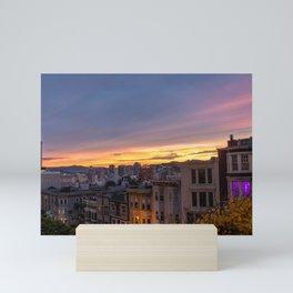 Sunset Over Nob Hill Mini Art Print