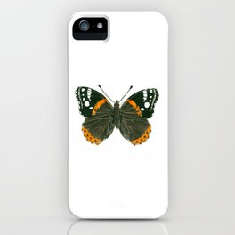 Admiral butterfly ink illustration iPhone Case