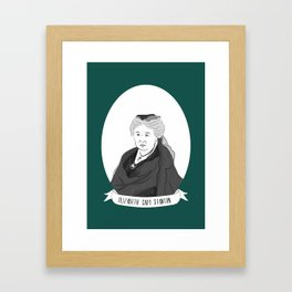 Elizabeth Cady Stanton Illustrated Portrait Framed Art Print