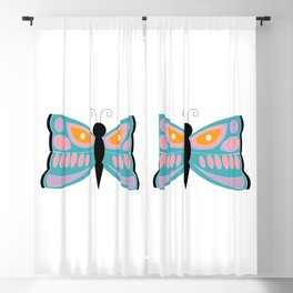 Colorful Butterfly Blackout Curtain