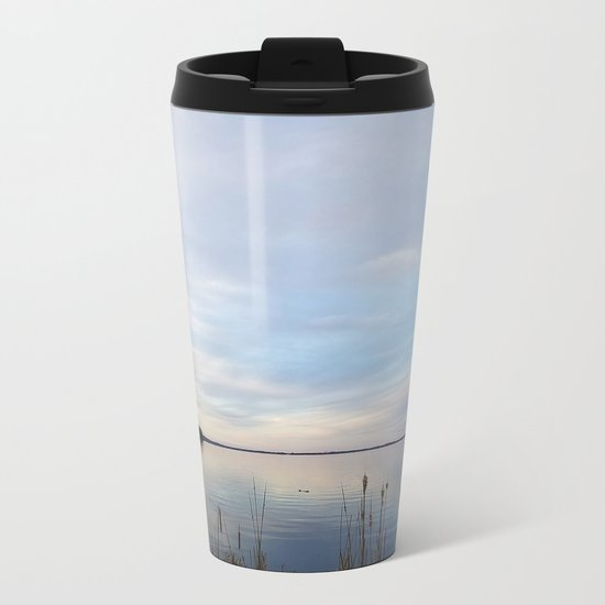 Twilight Serenity - Clouds and reflections on University Bay Metal Travel Mug