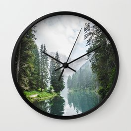 Forest Reflection in Italy Wall Clock
