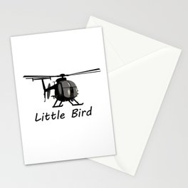 MH-6 Little Bird Helicopter Stationery Cards