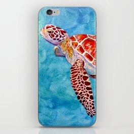 Sea turtle and friend iPhone Skin