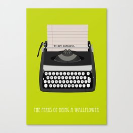 the perks of being wallflower Canvas Print