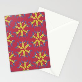 Deer Snowflakes Stationery Cards