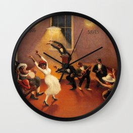 African-American Classical Masterpiece 'Tongues (Holy Rollers)' by Archibald Motley Wall Clock