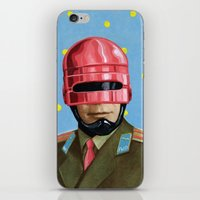 robocop iPhone & iPod Skins featuring Pink Robocop by FAMOUS WHEN DEAD