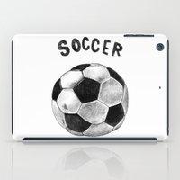 soccer iPad Cases featuring Soccer by Matthias Leutwyler