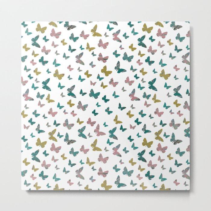 butterflies_pink Metal Print
