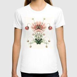 Botanical Flower Glitch IV T-shirt