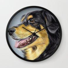 Dog Portrait 01 Wall Clock