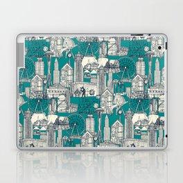 Seattle indigo teal Laptop & iPad Skin