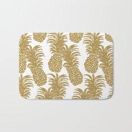 Gold Pineapples Bath Mat