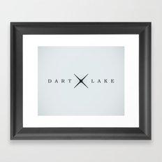DART LAKE Framed Art Print