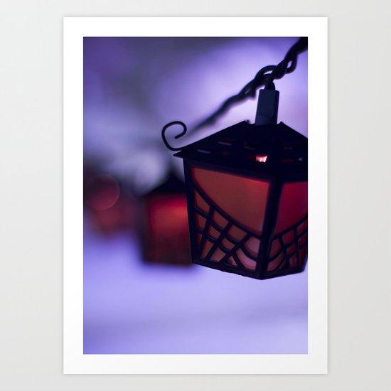 halloween lanterns Art Print