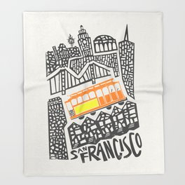 San Francisco Cityscape Throw Blanket