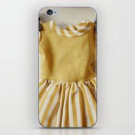 Doll Closet Series - Mustard Stripe Dress iPhone Skin