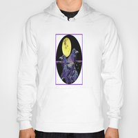 blankets Hoodies featuring Midnight Moon Ravens by SharlesArt