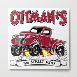 OTTMAN'S '46 Rev 2.0 Metal Print