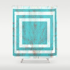 Squares in the Tide Shower Curtain