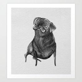 Le Carlin Noir Art Print