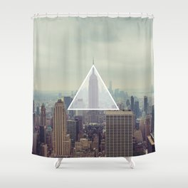 New York Triangle Shower Curtain
