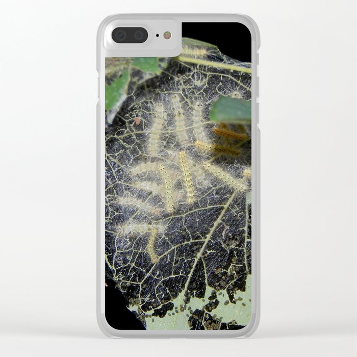 Tent caterpillars Clear iPhone Case