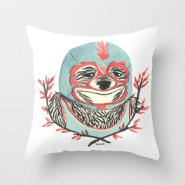 LuchaSloth Throw Pillow