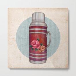 Retro Warm Water Jar Metal Print