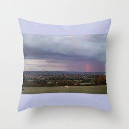 Magic Of Glastonbury Tor Throw Pillow
