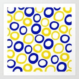 Calamari Hoops 01 Art Print