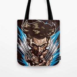 Hugh Jackman as Wolverin Vector Caricature Tote Bag