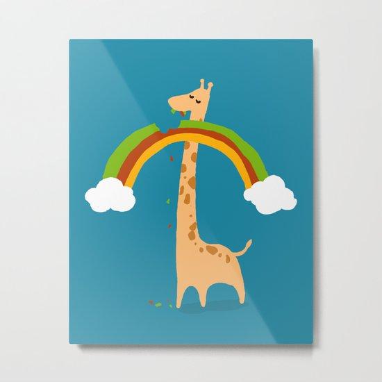 Taste of Happiness Rainbow Metal Print