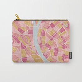 Pink Budapest map Carry-All Pouch
