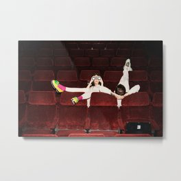 I enjoy going to the cinema. Taking a dress off. Closing my eyes. Watching the Dreamers Metal Print