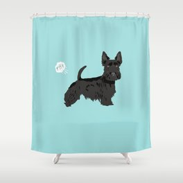 scottish terrier scotties funny farting dog breed pure breed pet gifts Shower Curtain