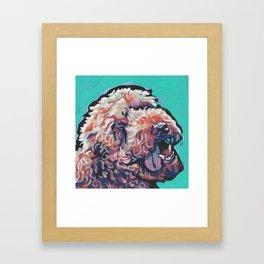 Labradoodle Doodle Dog Portrait bright colorful Pop Art Paintin by LEA Framed Art Print