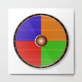 Round Viking Shield Metal Print