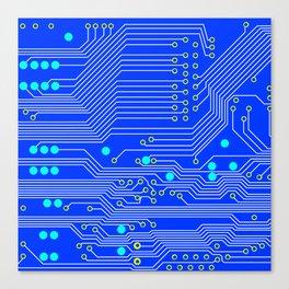 Blue Circuit Board  Canvas Print