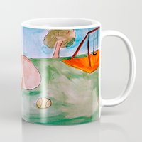 pit bull Mugs featuring Pit Bull by Caballos of Colour