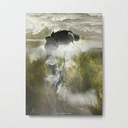 Man floating Metal Print