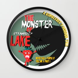 The monster of Strawberry Lake Wall Clock