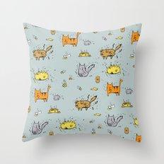 Dirty Animals Throw Pillow