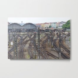 Prague Train Station Metal Print